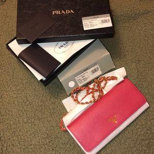 Pink Prada Wallet On Chain WOC
